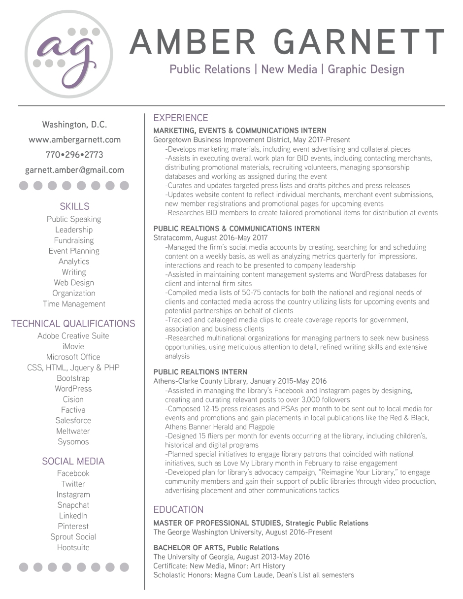 resume George Washington Resume stunning george washington resume gallery entry level amber garnett